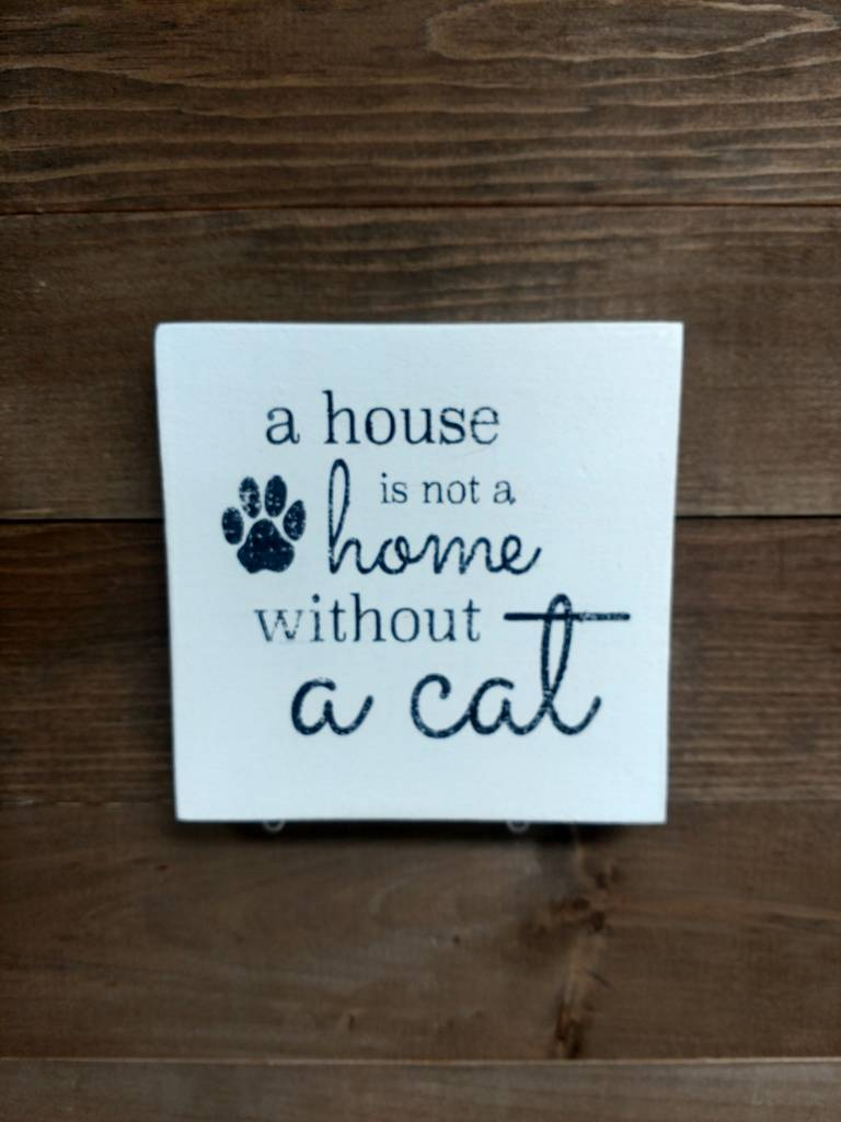 6X6 A HOUSE IS NOT A HOME CAT