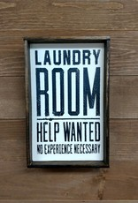 6X9 Laundry Room Help Wanted Framed