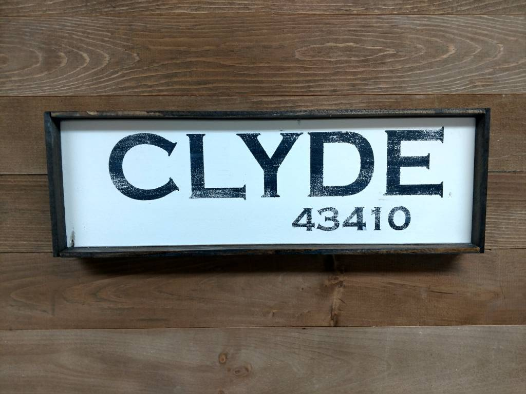 Clyde 6x18 Framed