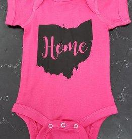 Baby Onsie Pink w/ Black HOME