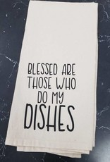 blessed do my dishes tea towel