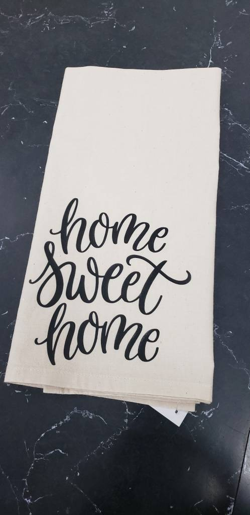 Home Sweet Home Teal Towel
