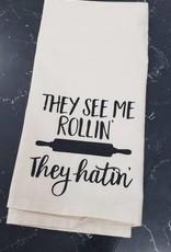 They See me Rollin' Tea Towel