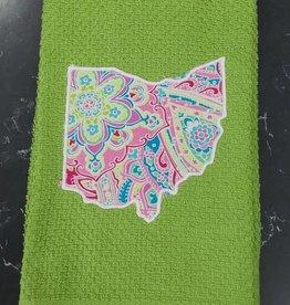 Jen Jen Green Ohio Towel