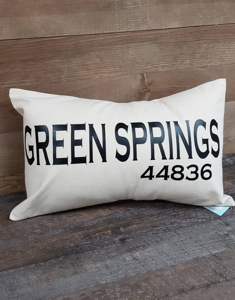 City Zip Pillow Green Springs