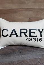 City Zip Pillow- Carey