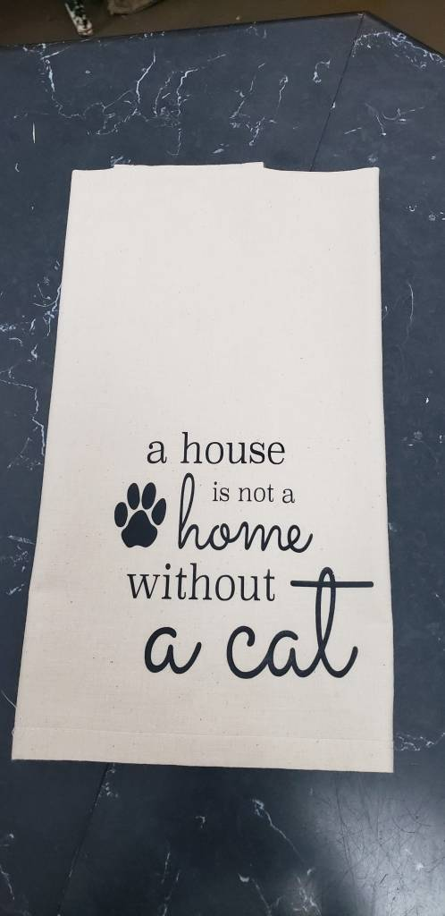 Without a Cat Tea Towel