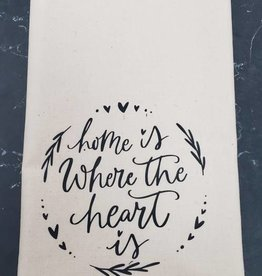 Home is Where the Heart is Tea Towel