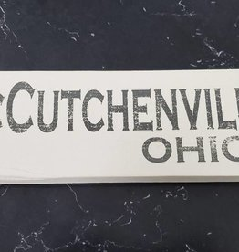 McCutchenville 4x12 Grey/Cream Sign