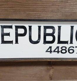 Republic 6x18 Framed