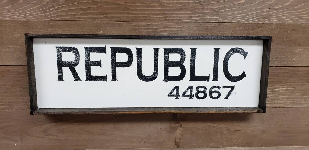 Republic 6x18 Framed