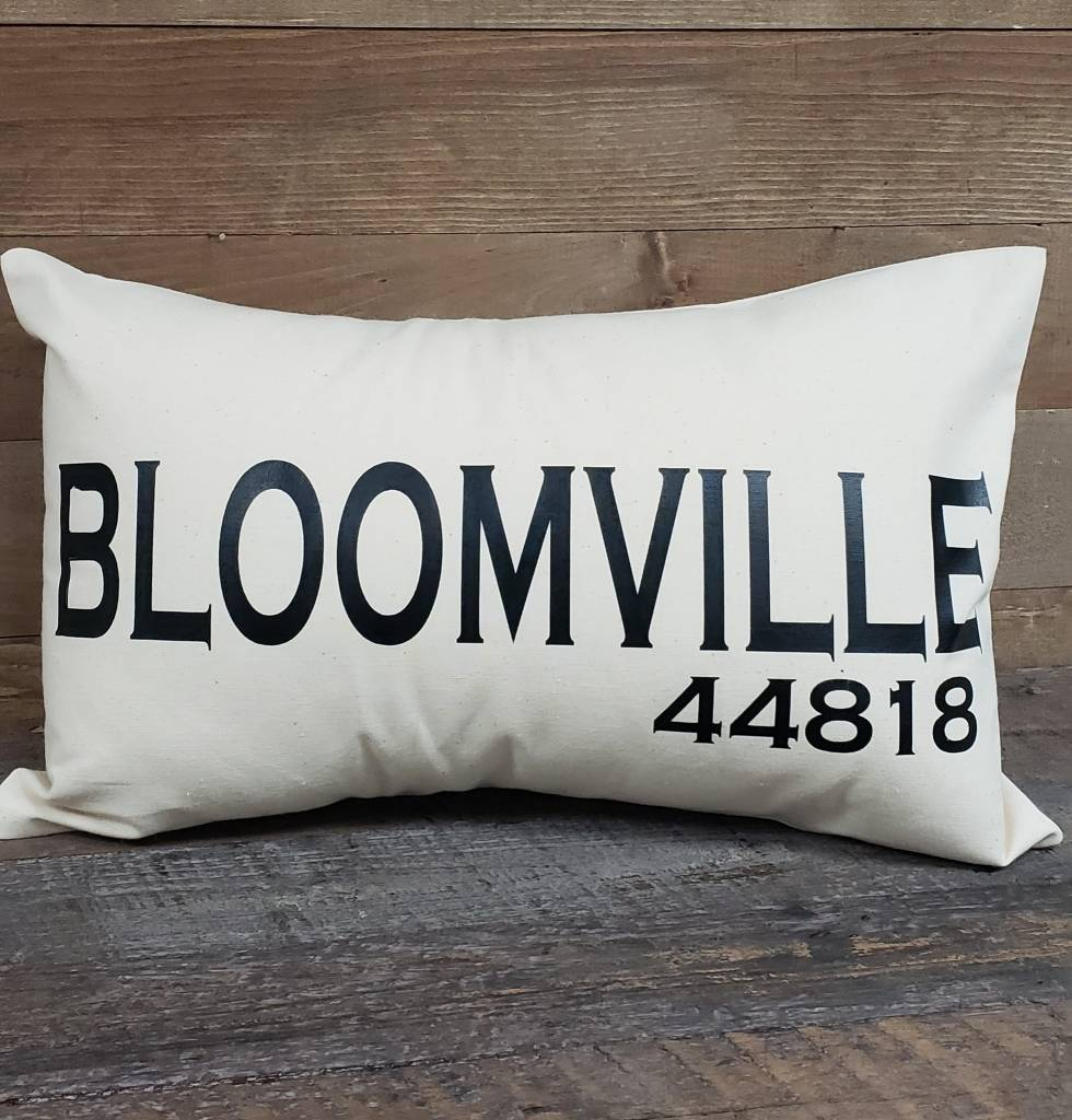City Zip Pillow Bloomville