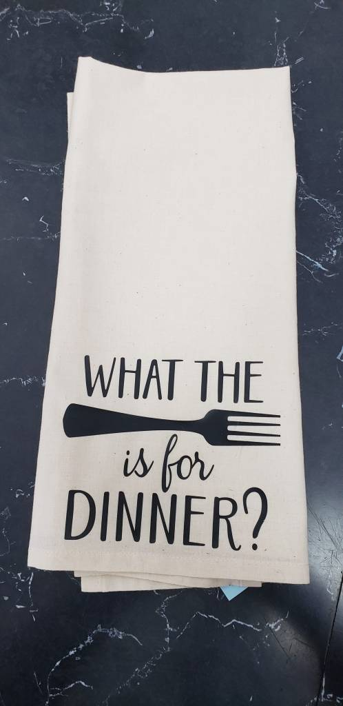 What the Fork Tea Towel