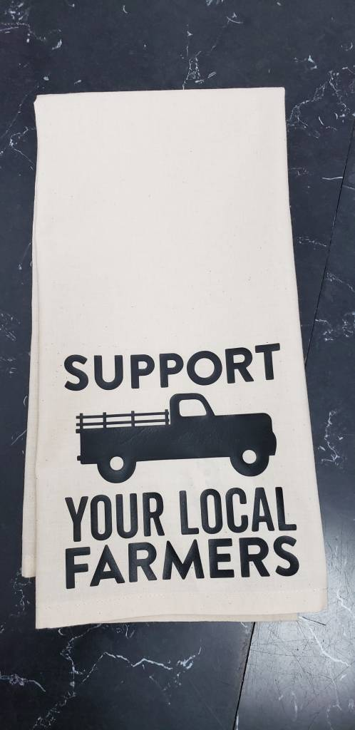 Support Your Local Farmer Tea Towel