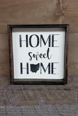 6X6 Home Sweet Home  Framed