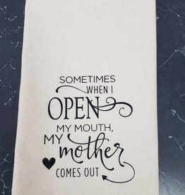 Open My Mouth Tea Towel