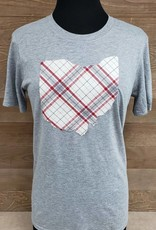 Ohio Plaid Charlie Grey T Shirt