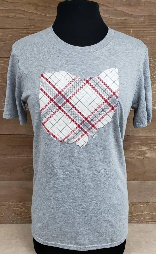 Ohio Plaid Charlie Grey T Shirt