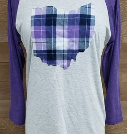 Ohio Plaid Nora Purple Sleeve
