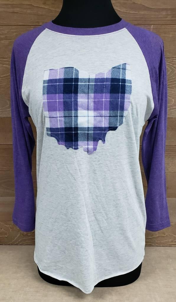 Ohio Plaid Nora Purple Sleeve