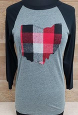 Ohio Plaid Rylan Black Sleeve