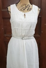 Taupe Crochet Embellished Dress