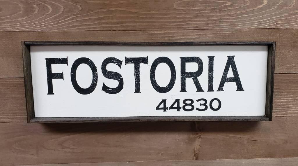 Fostoria 5.5x17 Framed