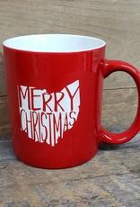 Ohio Merry Christmas Red Mug