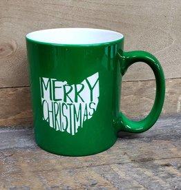 Ohio Merry Christmas Green Mug