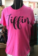 Tiffin Script Black Font Crew Neck