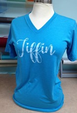 Tiffin White Font V Neck
