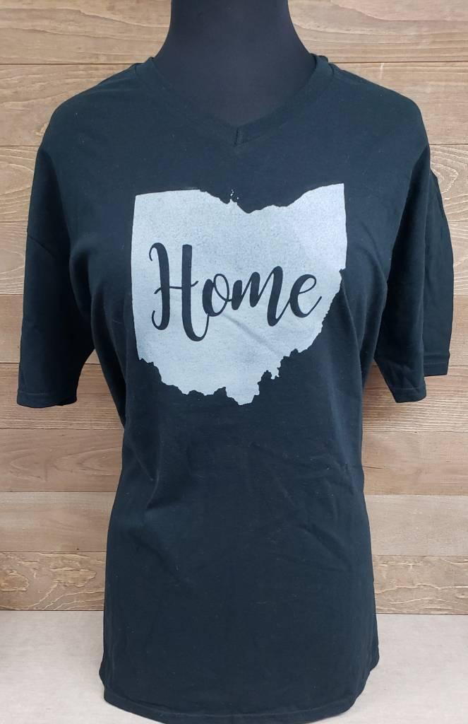 Home w/ Gray V Neck