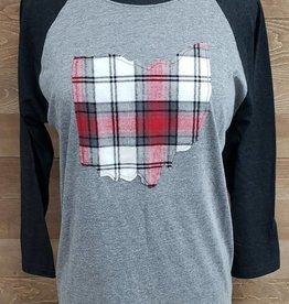 Ohio Plaid Noah Black Sleeve