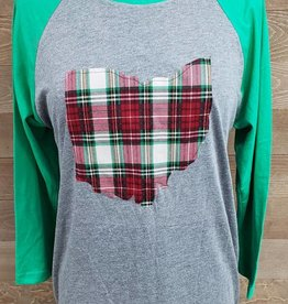 Ohio Plaid Charlene Green Sleeve