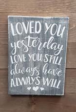 7X10 Loved You Yesterday Gray