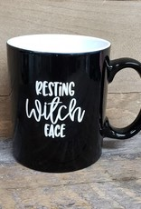 Resting Witch Face Black Mug