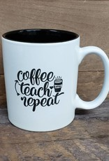 Coffee Teach Repeat White Mug