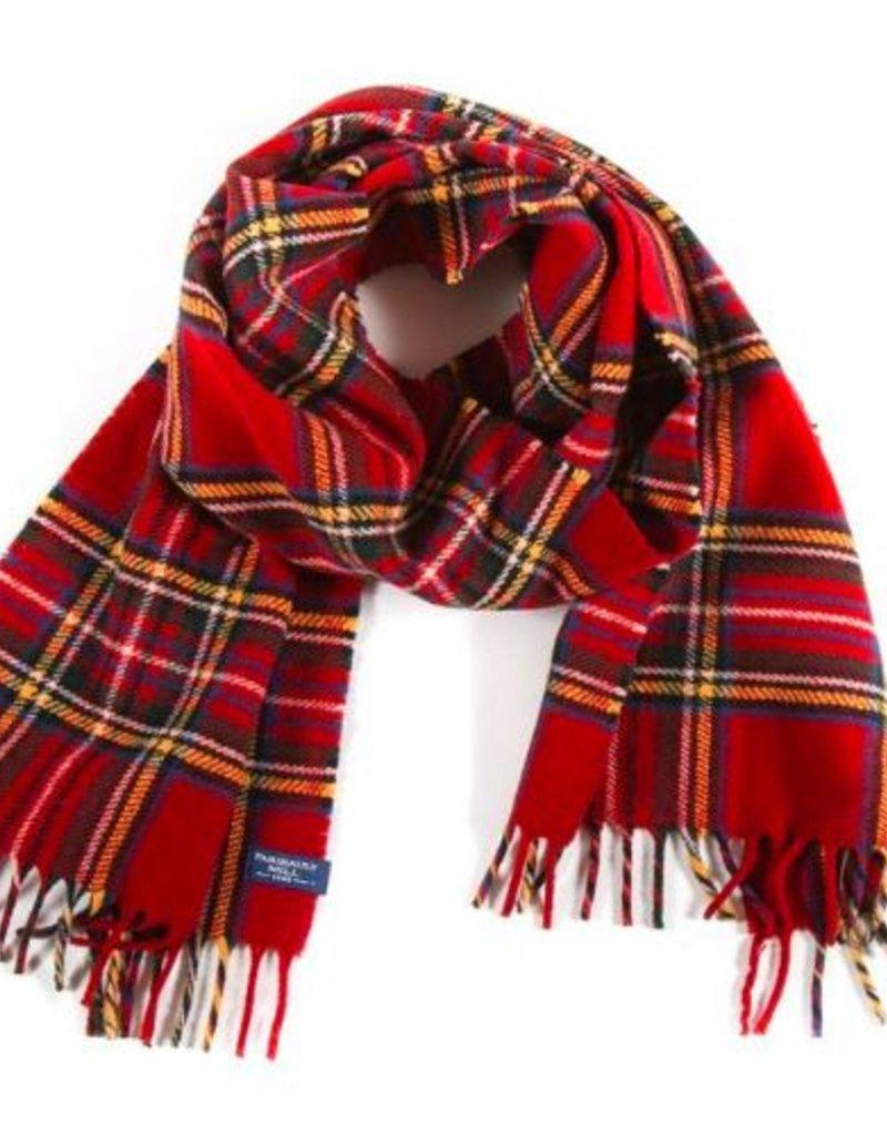 Stewart Plaid Scarf - Red - Merino Wool
