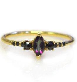 Mystic Topaz and Black Diamond Temptress Ring