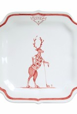 "Juliska Country Estate Winter Frolic Reindeer Games ""Comet"" Plate"