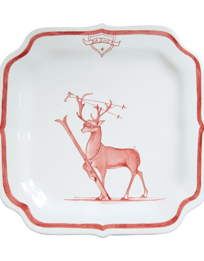 "Juliska Country Estate Winter Frolic Reindeer Games ""Dasher"" Plate"