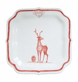 "Juliska Country Estate Winter Frolic Reindeer Games ""Rudolph"" Plate"