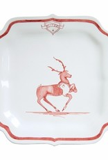 "Juliska Country Estate Winter Frolic Reindeer Games ""Blitzen"" Plate"