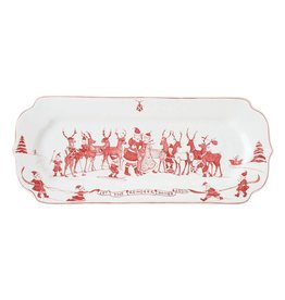 Juliska Country Estate Reindeer Games Ruby Hostess Tray