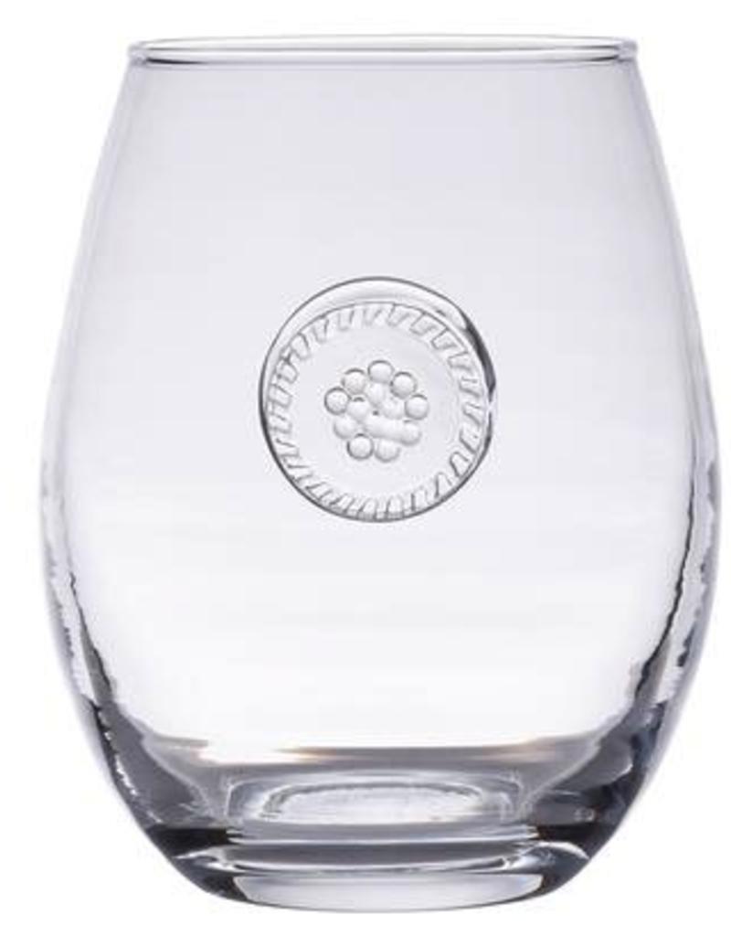 Juliska Berry & Thread Glassware Stemless White Wine