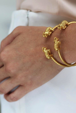 Elephant Gold Bangle