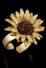 Sunflower Adjustable Ring- Large