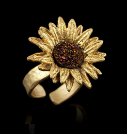 Sunflower Adjustable Ring- Large