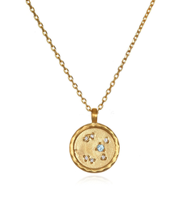Sagittarius Zodiac Gold Necklace