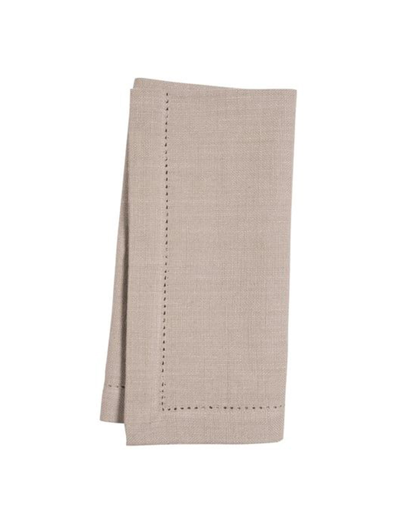 KAF Group Hemstitch Napkin in Taupe